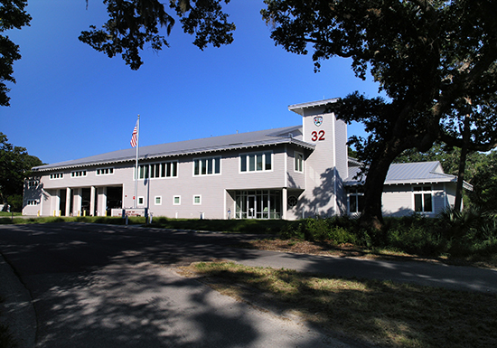Bald Head island Safety Building.